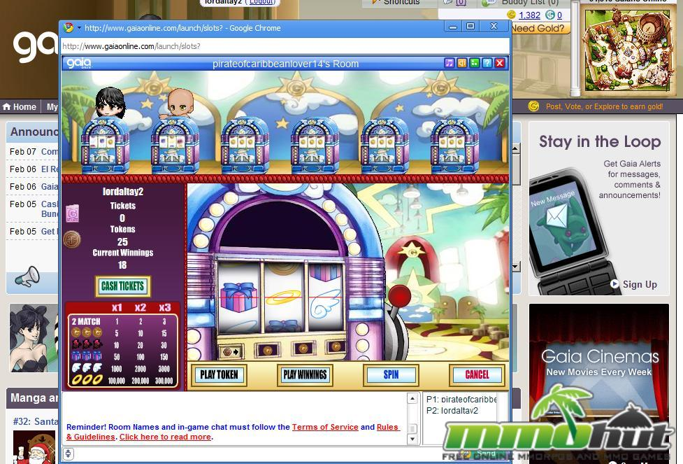 how to win slots on gaia online