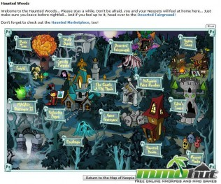 Neopets Haunted WOods Screenshot