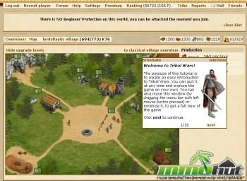 Tribal Wars Starting Screenshot