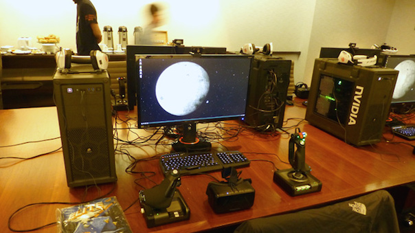 Elite: Dangerous Pre-Launch Press Preview Event Gaming Setups
