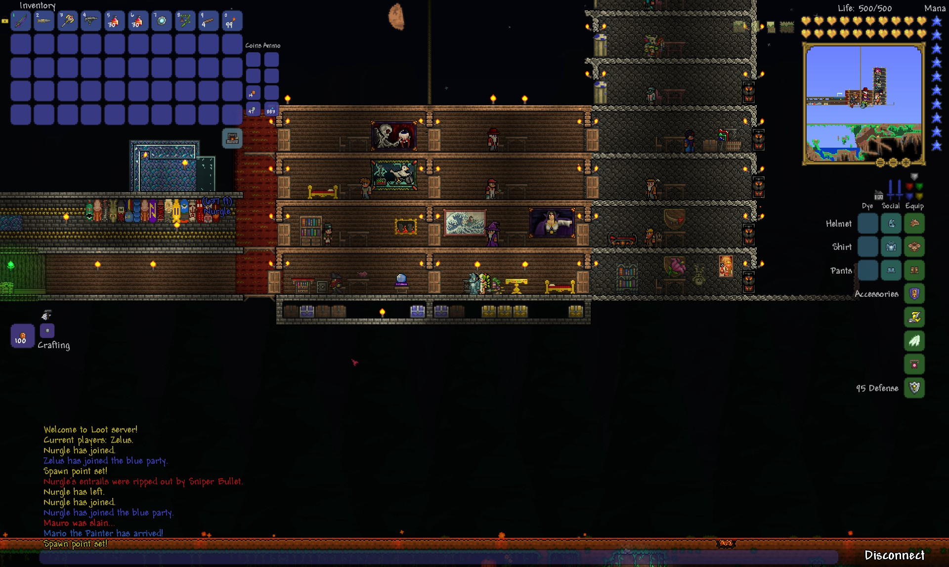 Terraria Review - Building a New Base; Nurgle dies a lot.