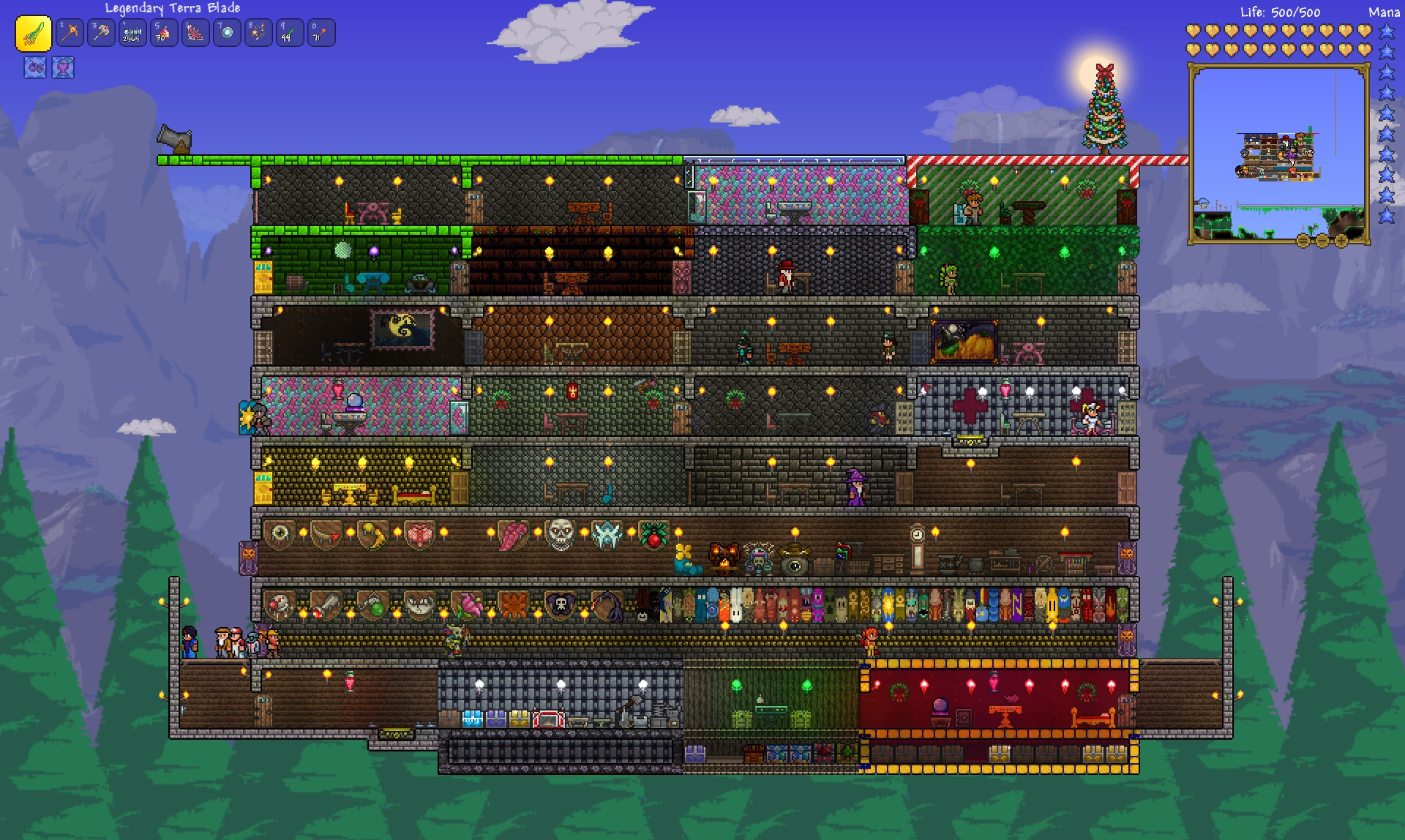 Terraria Review - Final Base