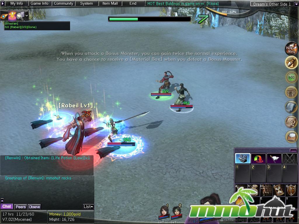 Atlantica Online Combat Screenshot