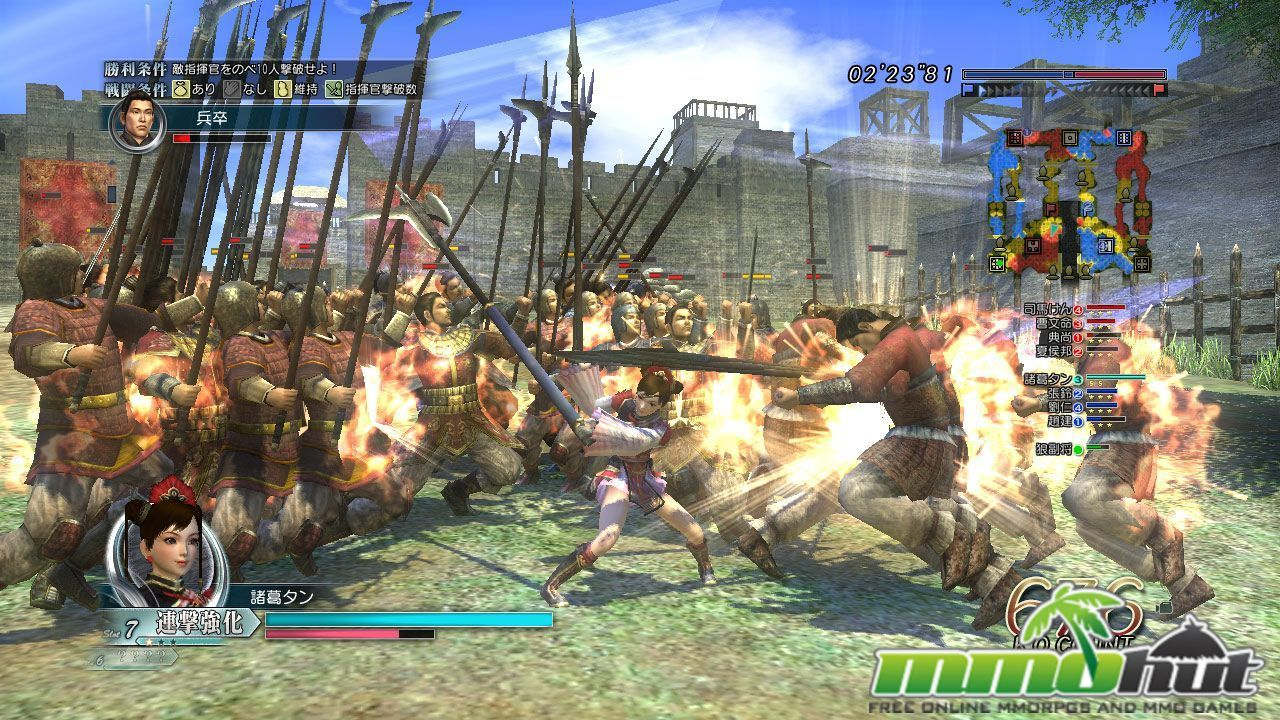 Dynasty Warriors Online Battle Screenshot