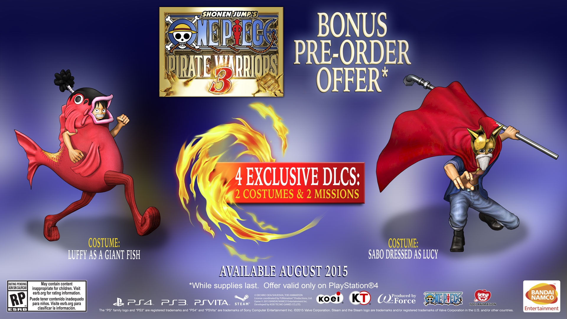 One Piece: Pirate Warriors 3 Trailer and Pre-Order Offer Revealed Post Header