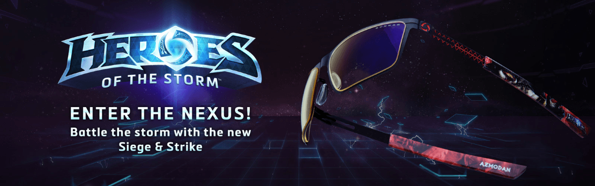 GUNNAR Launches Heroes of the Storm Gaming Eyewear News Header