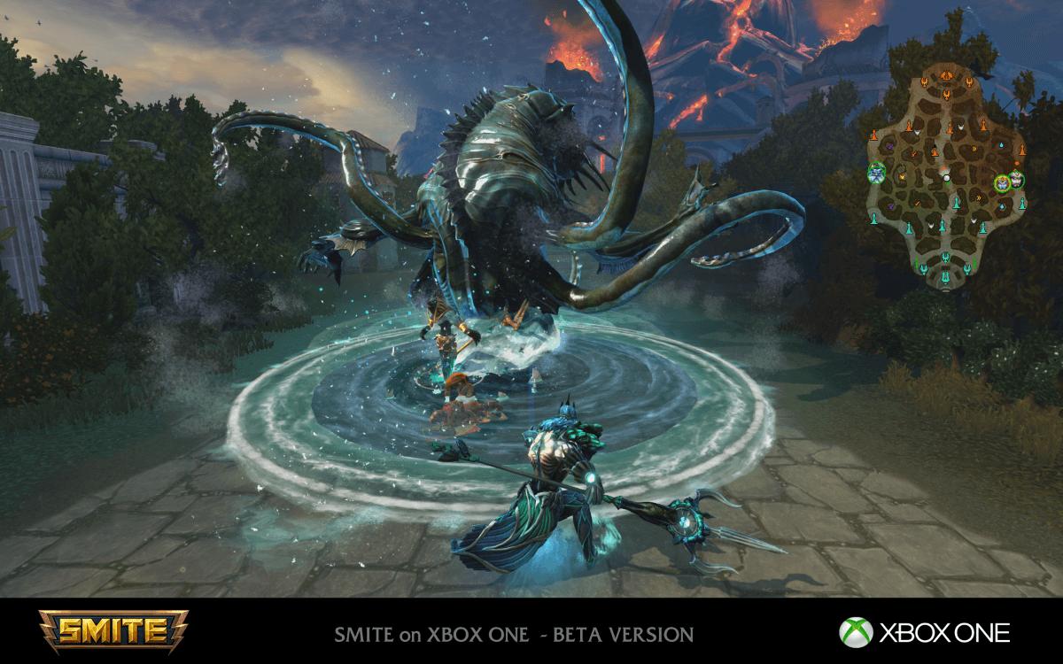 SMITE enters Open Beta on Xbox One news header