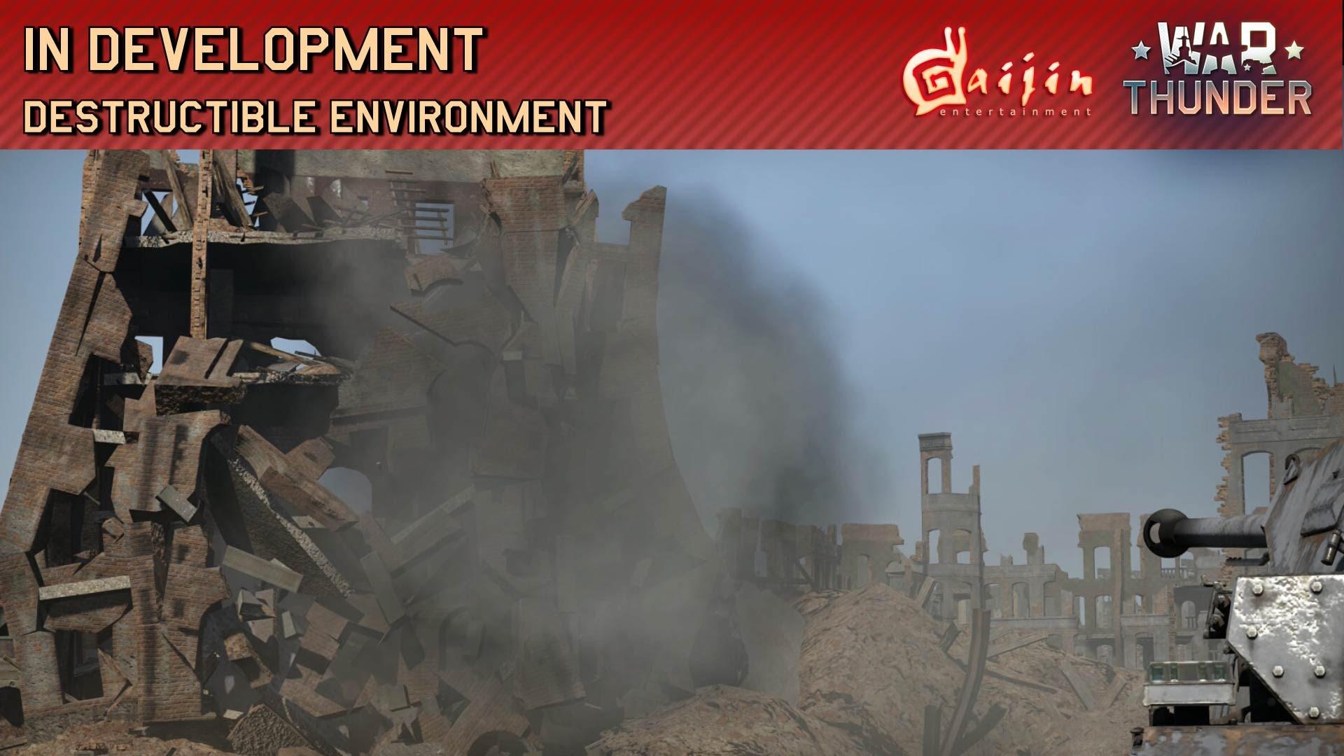 War Thunder In Development: Destructible Environment video thum