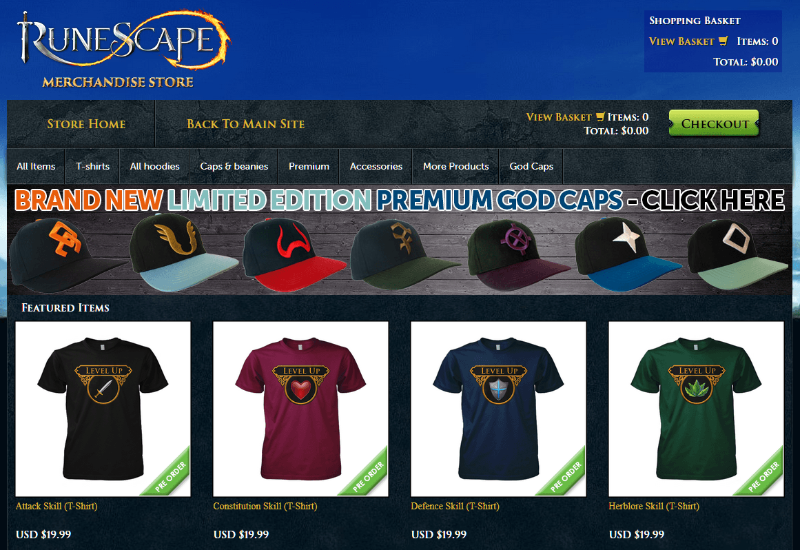 RuneScape Merchandise Store goes Cash Free by Accepting Bonds news header