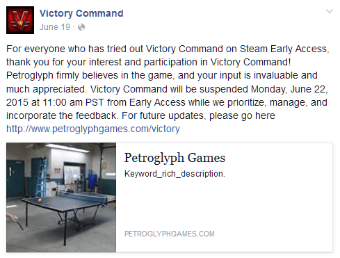 victory command shut down