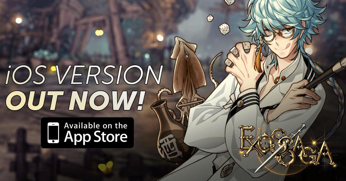 Exos Saga iOS Release Today news header