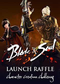 Blade & Soul Launch Raffle Homepage