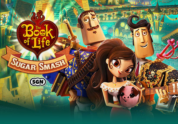 Book of Life Sugar Smash Game Profile Banner