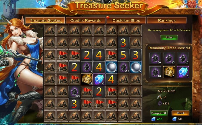 League of Angels II Treasure Seeker Event begins