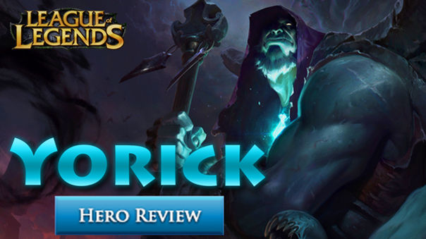 "By Charles Perez (Kings Decree) Yorick, the Shepherd of Souls is back from the dead. But not for long. This is the fourth complete rework behind Sion, Poppy, and Taric. Every single one of those was a major success in revitalizing otherwise exceptionally rarely picked champions; two of which are even top tier picks in high ELO and competitive play. Now it's Yorick's turn. While the new kit and look brings him up to an acceptable level of quality, he's doomed to return to the grave. Abilities Passive: Shepherd of Souls Occasionally neutral and enemy minions will drop a grave nearby; enemy champions always leave a grave. Q: Last Rites & Awakening Yorick's next basic attack deals bonus attack damage and restores health. If the target is killed, raise a grave. If Last Rite is on cooldown, and at least 3 graves are nearby, spawn the corresponding amount of Mist Walkers. Yorick can only have up to 4 Mist Walkers active at any time, although they will instantly die when out of range. W: Dark Possession After a brief delay, summon a destructible wall that encircles the target for several seconds. Yorick and teammates may freely walk over the wall. E: Mourning Mist Hurl a glob of ectoplasm that deals magic damage, slows the enemy, and marks them. Marked targets will be prioritized and attacked by Yorick's spawned minions immediately. R: Eulogy of the Isles Summon Maiden of the Mist. The Maiden moves and attacks on her own accord, but will assist Yorick should he be attacked nearby. If both Yorick and the Maiden attack the same target, they will do bonus magic damage plus a percentage of the enemy's max hp. Strengths + Tower Taking Menace + Can Build Tanky and Still Do Loads of Damage + 1v1 Master Weaknesses - Predictable and Easy to Play Around - Zero Engage - Little Crowd Control Roles Yorick is, at this point in time, able to freely play either top, jungle or support. He is a shoe in for top for obvious reasons (self-sustaining split pusher), but he's also adequate in the jungle and support due to his ability to push a turret after a kill phenomenally well - this is especially fantastic because of the recent change that gives extra gold for the first turret taken. Additionally, he doesn't need much gold to be effective due to his innate tankiness and light amount of crowd control. Build Overview Getting started with Yorick is pretty straight forward. When playing any position take a defensive mastery page. Similarly with the runes, focus on a more passive setup to get through the rough early game. Items wise each role will start with their respective first buy: jungler takes Machete, support picks up Relic Shield, and top buys Doran's Shield. Because Yorick's main goal is to take towers, the optimal next few items is Sheen into Iceborn Gauntlet and boots. These core pick ups will give the player vital slipperiness and protective stats when overextended-ly pushing a lane. Follow up with an upgrade to Mercury Tread's and more defensive items like Randuin's Omen and Spirit Visage to stay alive - or a Ravenous Hydra for extra siege power if doing well. Gameplay His early game is rough, no way around it. His 'Q' is on a long cooldown and he needs the Maiden of the Mist to reach his potential. Levels one through six is all about surviving. Don't be afraid to use or lose resources just to survive. If the player is able to make it to the mid game without being hopelessly behind, Yorick can then get to work. Push lanes nonstop with 'Q' and 'R'. Additionally, major objectives like Drake, Rift Herald, and Baron are easily taken with the Maiden. Don't focus on kills akin to someone like Rengar or Shaco might, Yorick leads his team with gold from objectives. Late game is similar but more difficult. By this point most teams are much more inclined to group up and teamfight. If teleport is available, keep a close eye on any potential team fights. Supports and junglers are forced to stay close to the group with the expectation to help tank damage or peel for the carries as necessary. Should a major team fight be won, Yorick can then snowball with extra Mist Walkers from all the nearby graves and plenty of time to smack turrets down. However that's if he can get to that point; therein lays a huge problem. Yorick is a win-more champion with very little power to comeback from behind. Tips Despite his simple appearance and fairly straight forward kit, there are a lot of little tricks that one should know for maximum effectiveness - that is, if he isn't picked or banned due to being a ""new"" champion. The 'Q' ability (Last Rites & Awakening) is an auto attack reset. In other words one should attack, hit 'Q' as soon as it connects and attack immediately after. (AA-Q-AA) Kill enemies with 'Q' as much as possible to drop graves so Mist Walkers will spawn. The 'W' (Dark Possession) has a long cast animation, aim well ahead of the target enemy or flash on top of them for the guarantee. 'W' doesn't necessarily have to trap someone to be effective, just being a bit of impassable terrain can prove beneficial (e.g. zoning). 'E' (Mourning Mist) will hit even invisible enemies like Shaco, Twitch, and Evelynn. 'E' shoots out starting at the cursor location, to avoid missing aim in front of whatever is being targeted. The 'R' ability (Eulogy of the Isles) stays around along as she has health left, protect her for maximum up time. Otherwise, sacrifice the Maiden to a turret for map pressure. Keep in mind she will always be targeted first in a group of minions! If jungling, 'R' can help rapidly clear camps - including drake. Long Term Viability Yorick is a tricky champion to judge. He's kind of like Nasus in that he's a strong splitpusher with a kit that revolves around a hard hitting 'Q' ability, and a bit like Fiora in the strong 1v1 or 1v2 dueling. However, instead of being an absolute monster with a massive amounts of stacks due to AFK farming or incredible team utility, the Shepherd's power is dialed back to be more consistent albeit weaker. Problem is, he's not that great in either role. Nasus is broken under the right circumstances and god awful in others, Yorick will always solidly be average - even with his absurd base damage. Throw in the lack of engage and I don't think he will ever be a top tier pick in SoloQ or competitive. 'But Fiora was an overpowered top laner and she didn't have engage!' Thing is, her mobility and tank busting ability was - and somewhat still is - ridiculous. She also has the big heal and is still not a top tier pick. The only thing that concerns me is just how much pros and top players value turret taking power. Yorick, aside from ADCs, is the absolute king of taking turrets and pushing lanes. Maybe that alone will be enough to fit him into a jungler or support role. Ultimately time will tell, but I believe he'll go back to being a low pick rate chump after a bit of experimentation. Alas, Poor Yorick! Yorick is a terrifying split pusher with incredibly devastating dueling combat prowess, unfortunately his low mobility, team utility, and crowd control is going to send this Shepherd of Lost Souls back to the afterlife."