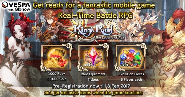 King's Raid News - Pre-Registration Now Available