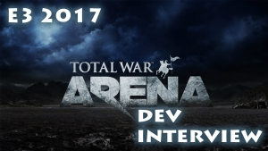 Darren interviews Rob Ferrell about Total War Arena at E3 2017.
