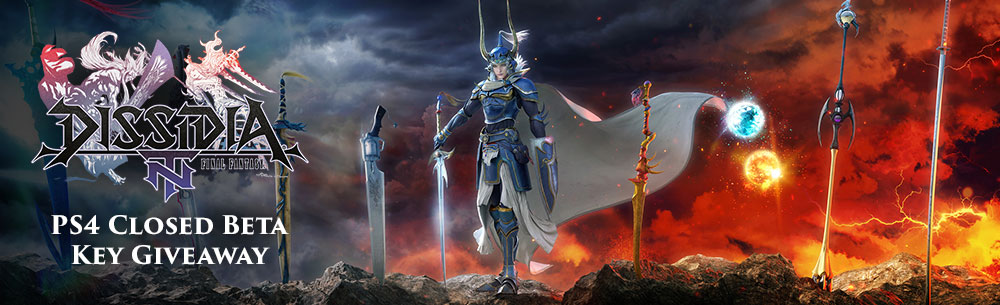 Dissidia Final Fantasy NT Closed Beta Key Giveaway Banner