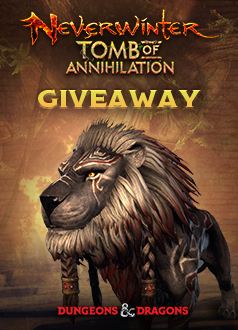 Neverwinter Ash Tribal Lion Giveaway (PC) Front Page Banner