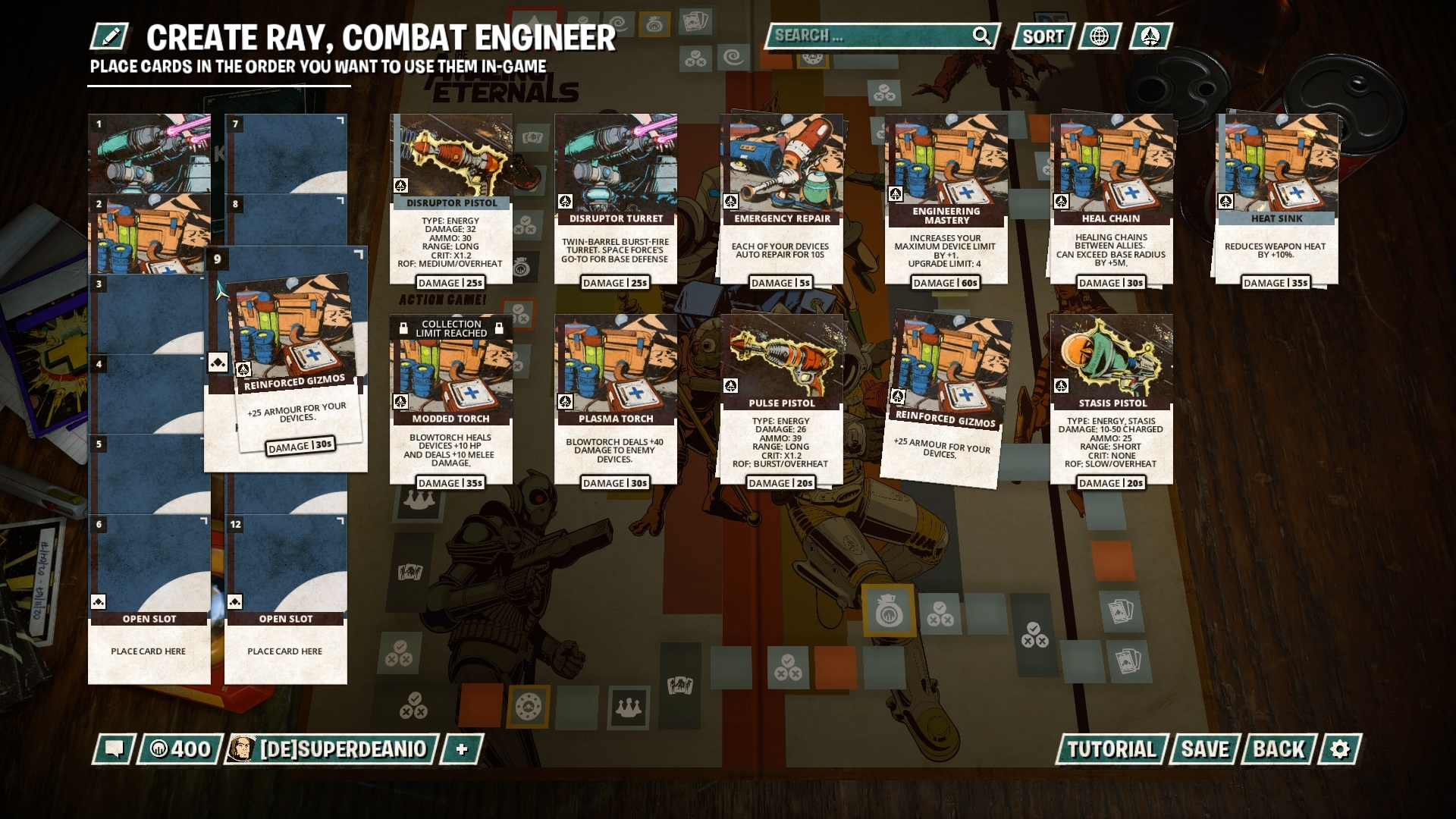 The Amazing Eternals Deck Builder