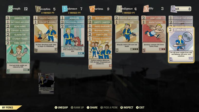 Fallout 76 Perks