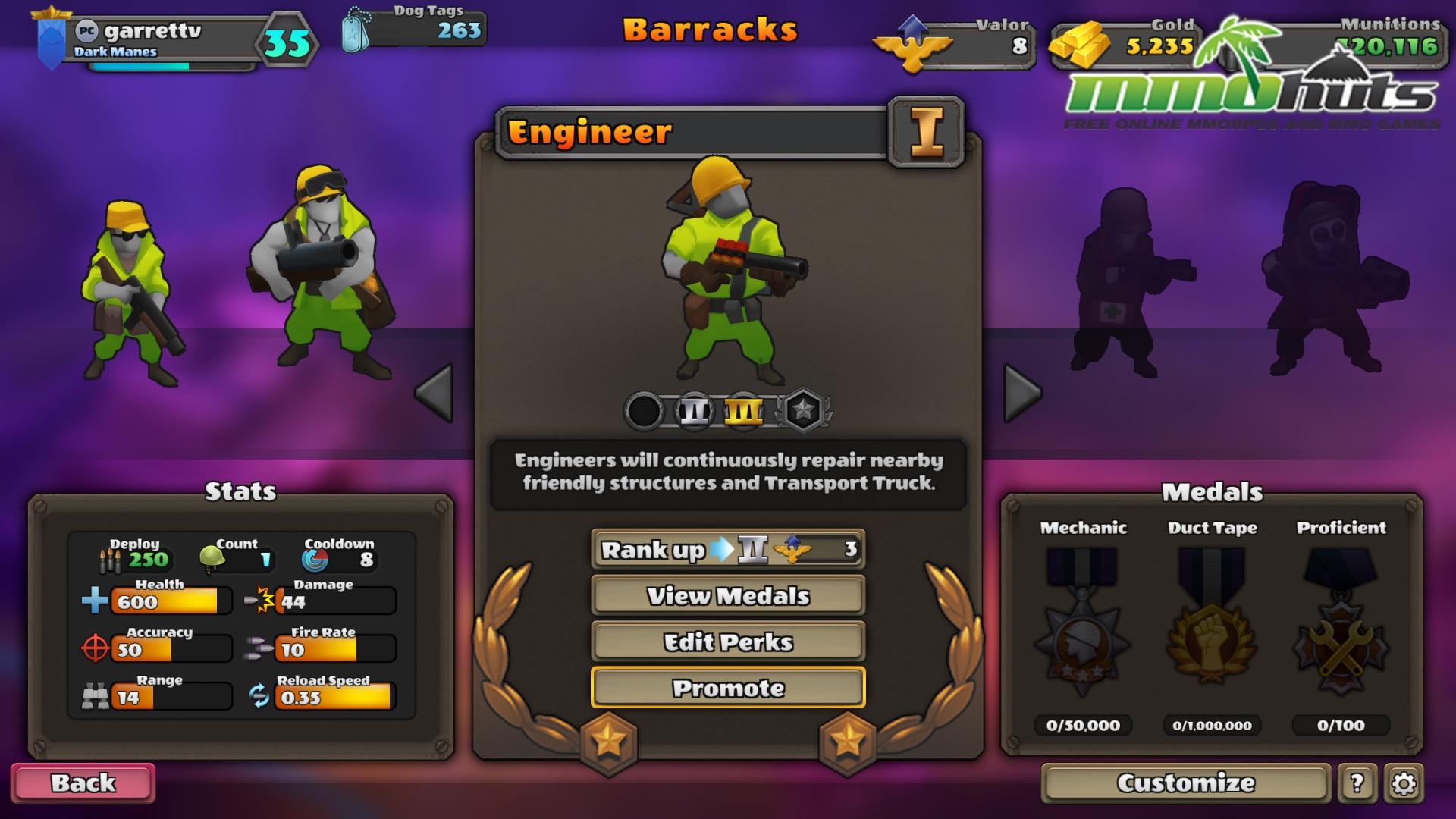 Guns Up!_Barracks