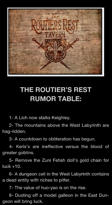 Into the Game Ebook Screencapture of Rumor Board