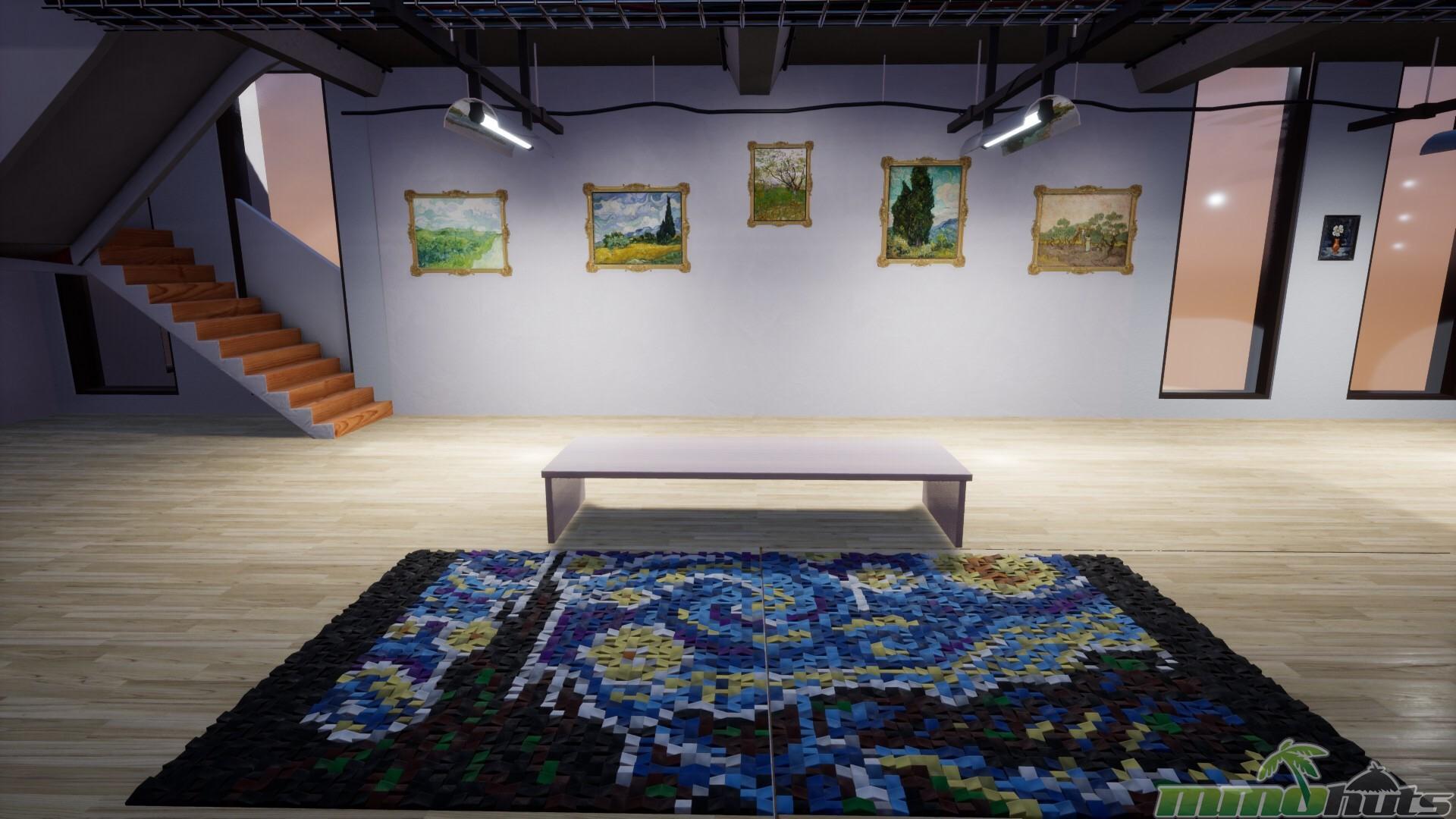 Tile Mosaic recreation of Van Gogh's painting Starry Night