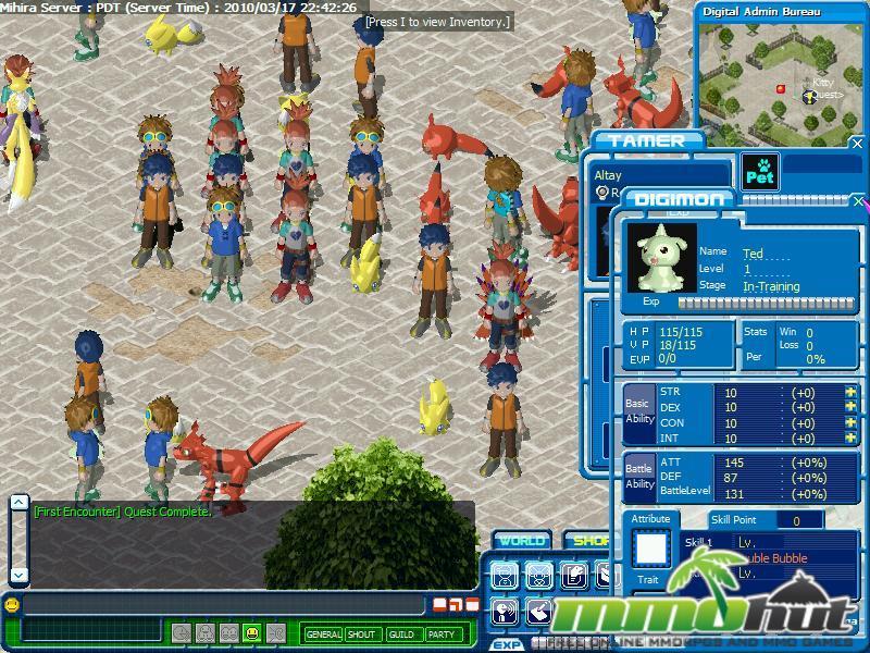 Digimon battle mmohuts for Bureau digital