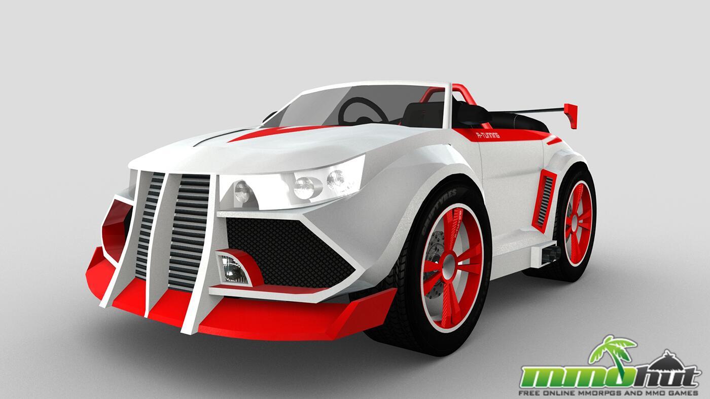 Wincars Racer_RedWhite Car