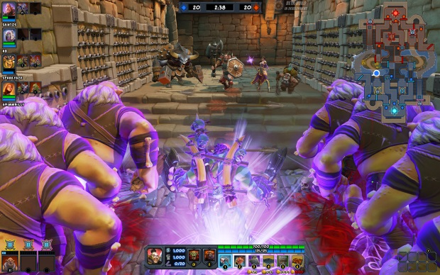 OMDU Preview Event Screenshot, Bloodspike pushing out