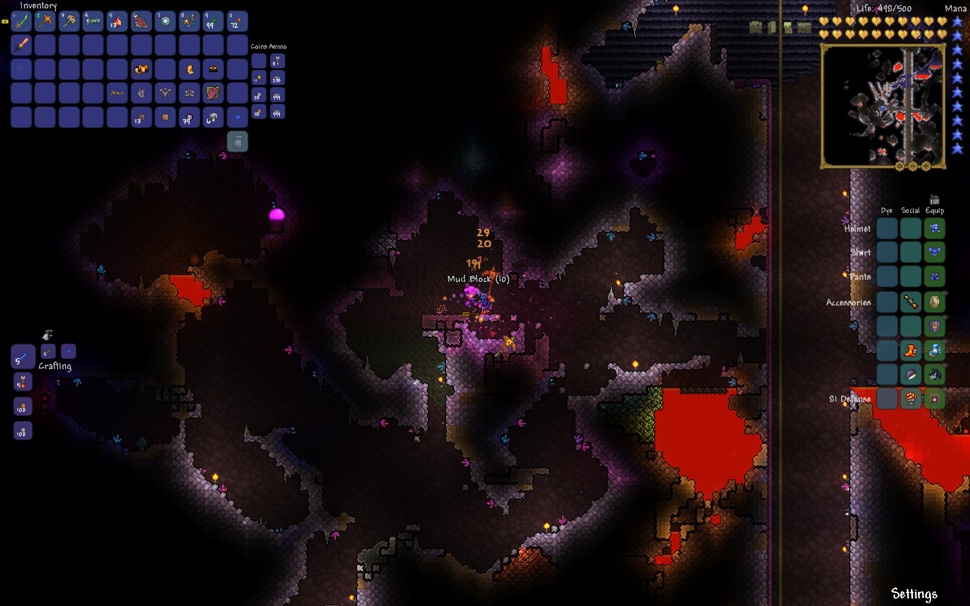 Terraria Review - Mining