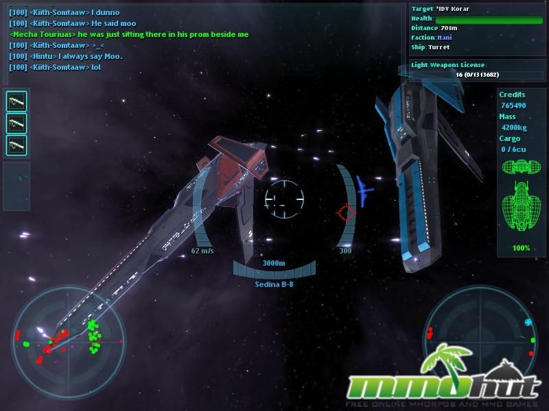 Vendetta Online Starship Screenshot