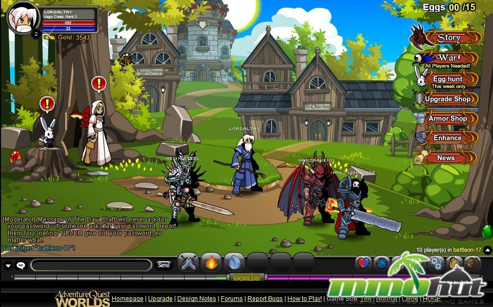 Adventure Quest Worlds Review Screenshot