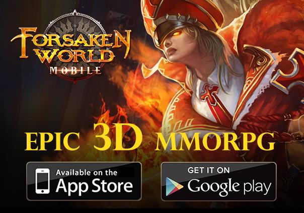 Forsaken World Mobile Launch Page
