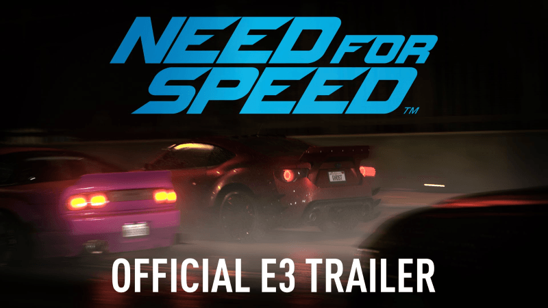 Need for Speed E3 2015 Trailer Thumbnail