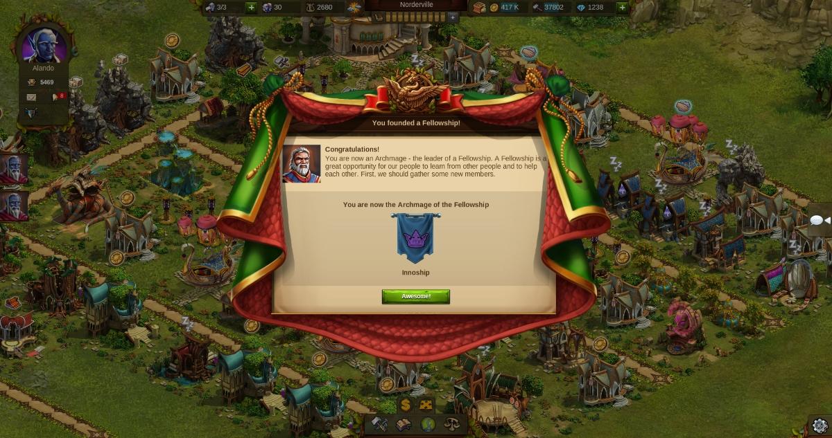Elvenar Adds Guild System: Band of Fellows news header