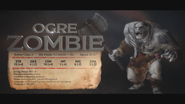 Sword Coast Legends Monster Showcase - Ogre Zombie video thumbnail