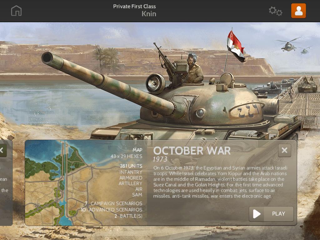 Wars and Battles Unlocks October War 1973 Campaign news header