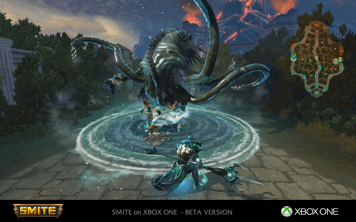 SMITE enters Open Beta on Xbox One news header