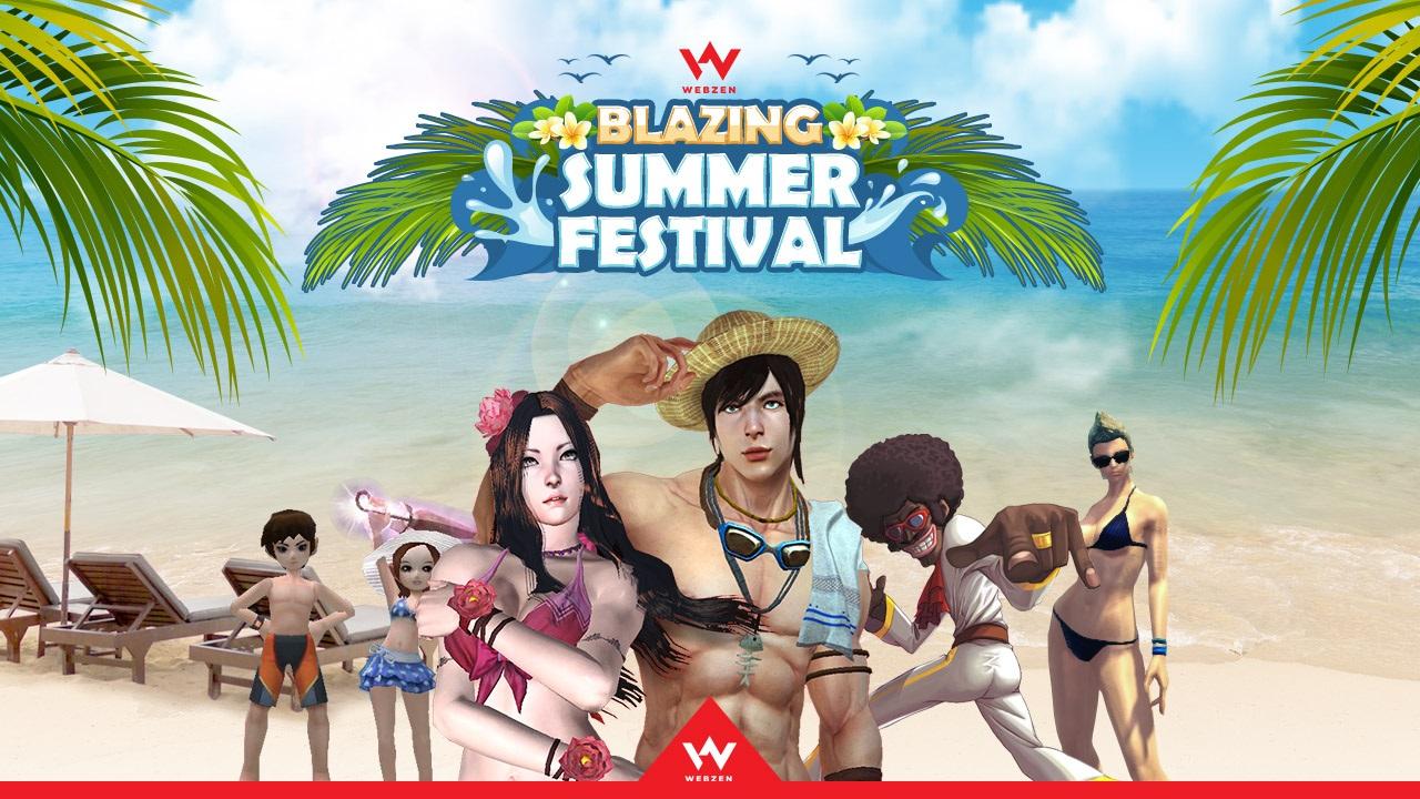 Blazing Summer Festival Arrives at WEBZEN.com news header