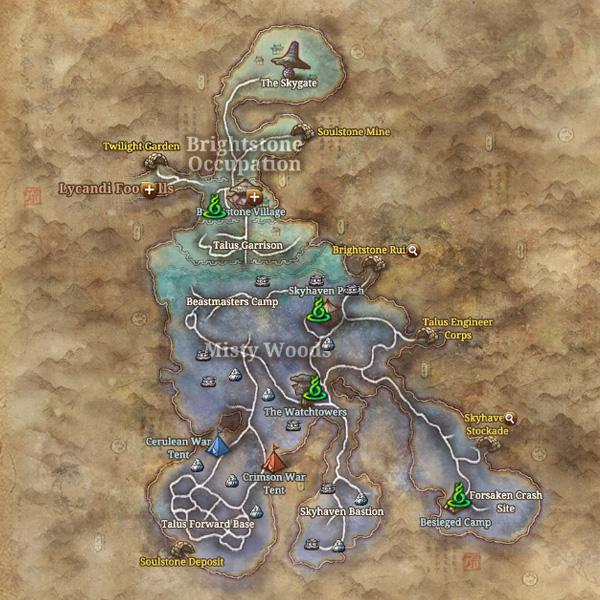 Blade & Soul Territory Map
