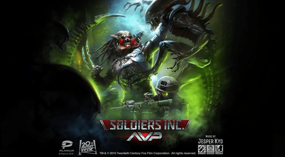 Plarium Partners To Bring Alien versus Predator to Soldiers, Inc. news header