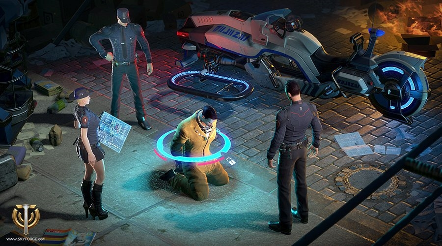Battle Crime in the new Skyforge Law and Order Event news header