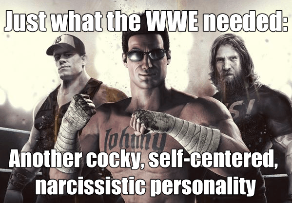 WWE Immortals Cage Narcissism