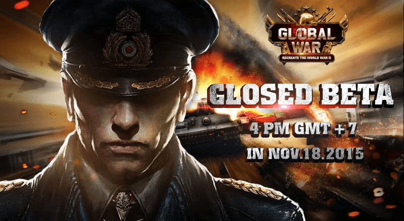Global War Closed Beta Test Begins November 18 news header