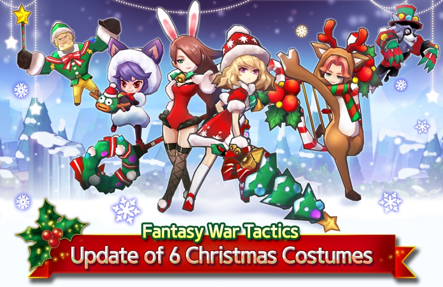 Fantasy War Tactics Launches Christmas Update news header