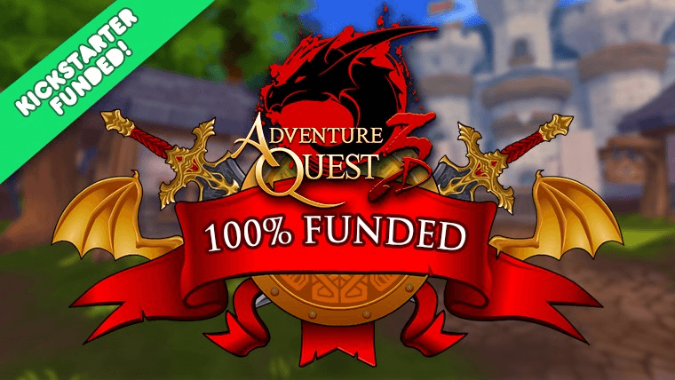 AdventureQuest 3D Fully Funded & Greenlit news header