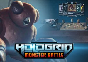 HoloGrid Monster Battle Game Banner