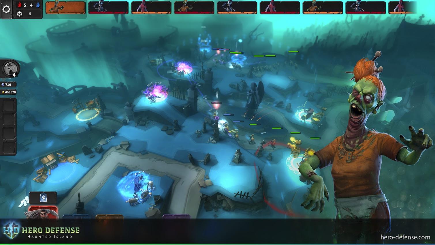 Hero Defense - Haunted Island Multiplayer Update Available